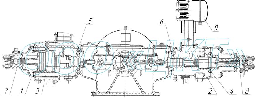 2ВМ4-8-401 чертеж компрессора